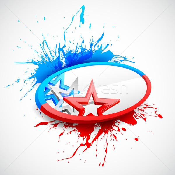 Photo stock: Résumé · drapeau · américain · illustration · fête · design · fond