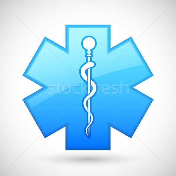 Stok fotoğraf: Tıbbi · simge · örnek · yılan · sopa · doktor