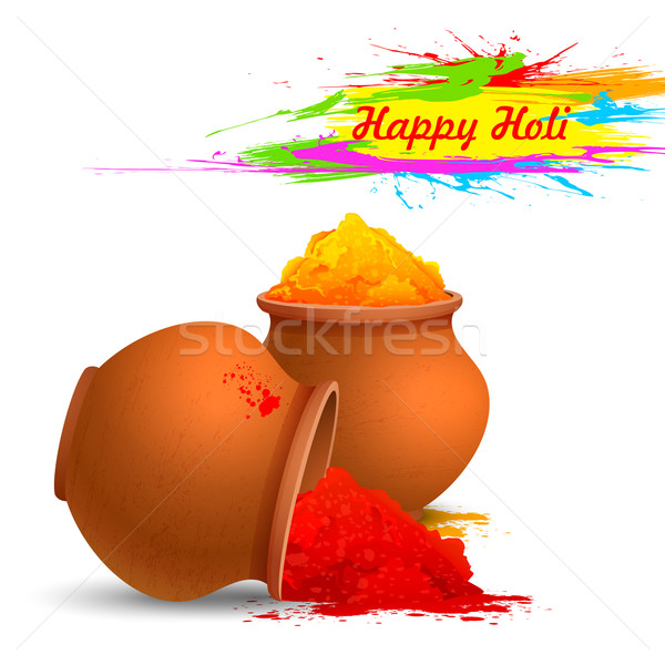 Colorful Happy Holi Stock photo © vectomart