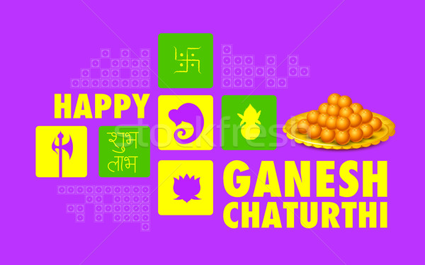 Happy Ganesh Chaturthi background Stock photo © vectomart