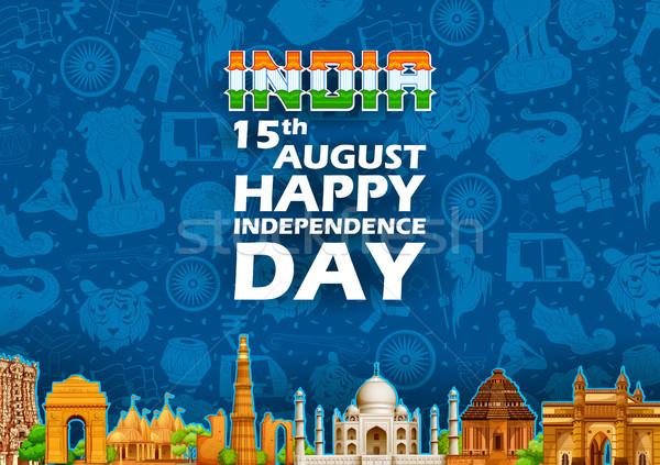 Célèbre indian repère heureux jour Inde Photo stock © vectomart