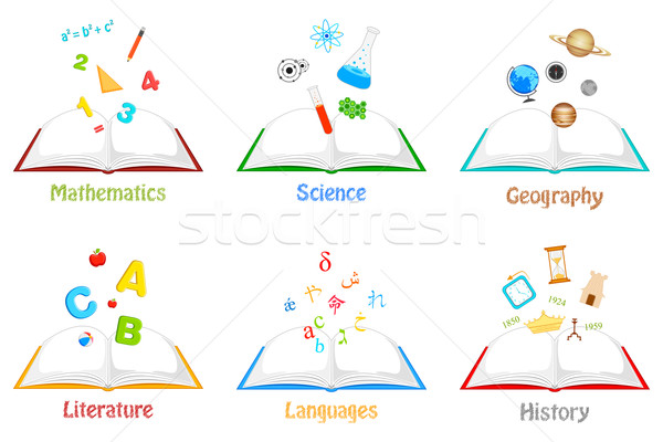 Books for different Subjects Stock photo © vectomart