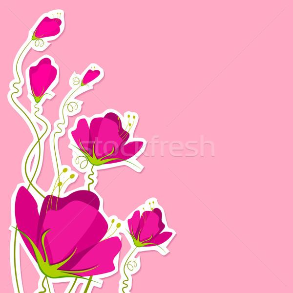 Kivágás papír virág illusztráció papír kivágás terv Stock fotó © vectomart