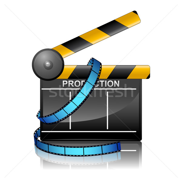 Film Reel with Clapper Board Stock photo © vectomart