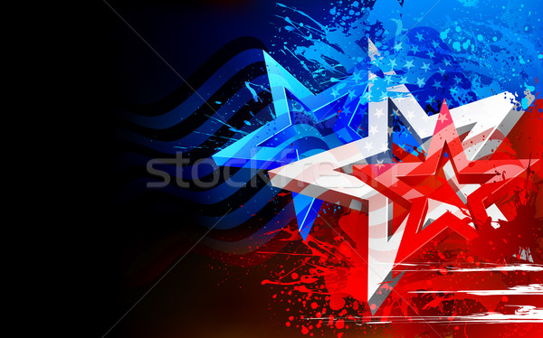 Abstract American Flag Background Stock photo © vectomart