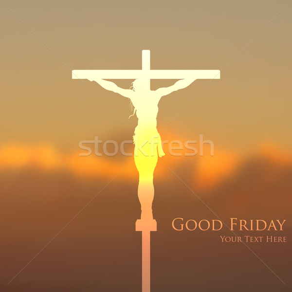Jesus Christ crucifixion on Good Friday Stock photo © vectomart