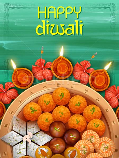 Brucia dolce felice diwali vacanze Foto d'archivio © vectomart