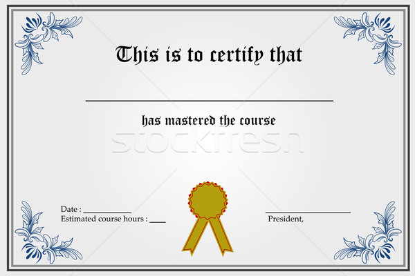 Certificate Template Stock photo © vectomart