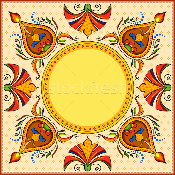 Happy Diwali background with diya Stock photo © vectomart