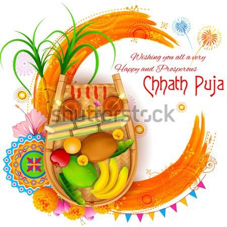 Stock photo: Happy Diwali background coloful with watercolor diya