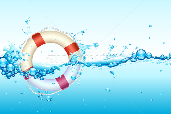 Lifebouy in Water Stock photo © vectomart