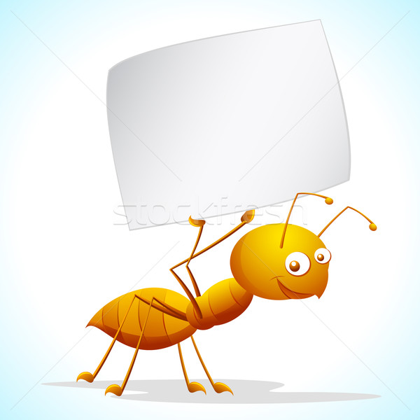 Ant with Placard Stock photo © vectomart