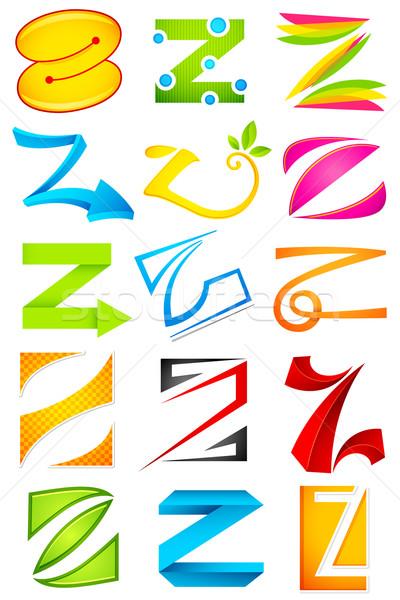 различный икона алфавит иллюстрация набор красочный Сток-фото © vectomart