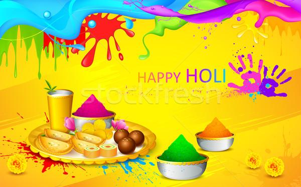 Holi wallpaper Stock photo © vectomart