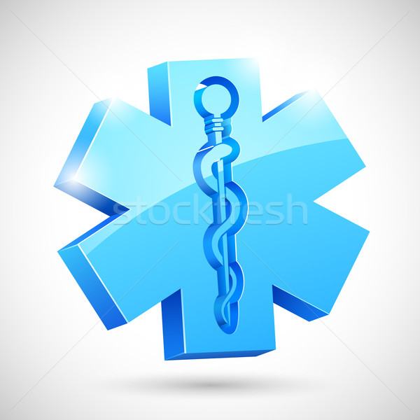 Medycznych symbol ilustracja wąż Stick lekarza Zdjęcia stock © vectomart