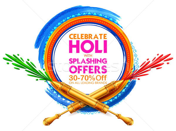 Holi Advertisement Promotional background Stock photo © vectomart