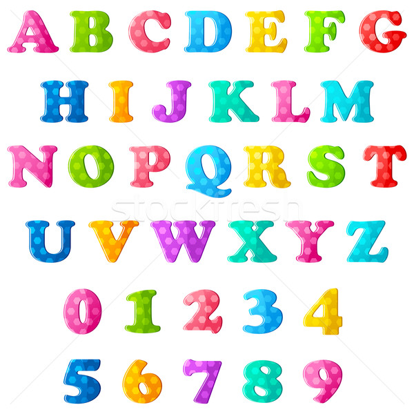 Alphabet and Numbers Stock photo © vectomart