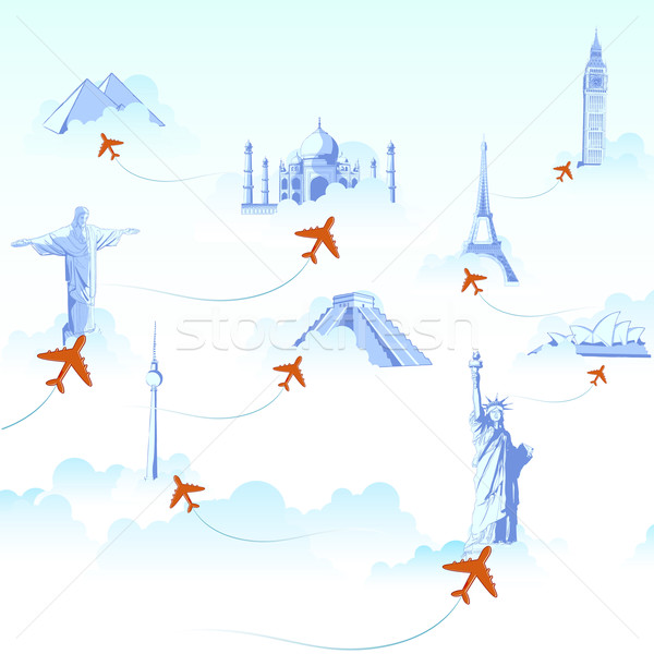 Travel Destination Stock photo © vectomart