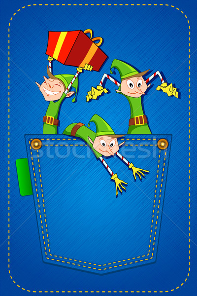 Elf throwing Gifts Stock photo © vectomart