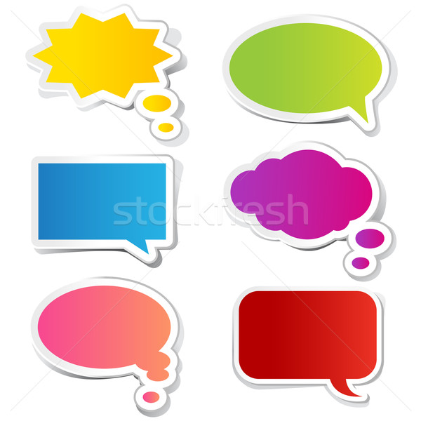 Chat Bubble Sticker Stock photo © vectomart