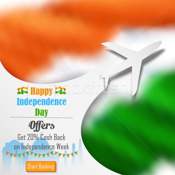 Foto stock: Avión · ofrecer · día · India · ilustración · fondo