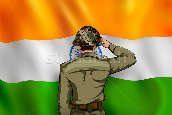 Indian armée Inde fierté illustration homme Photo stock © vectomart