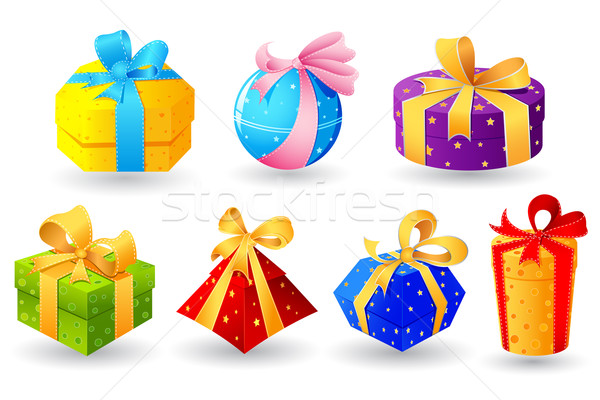Colorful Gift Stock photo © vectomart