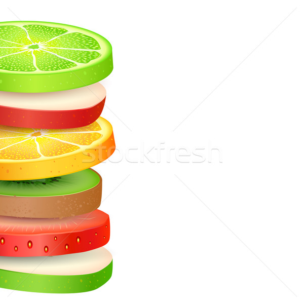 Fresh Fruit Slices Stock photo © vectomart