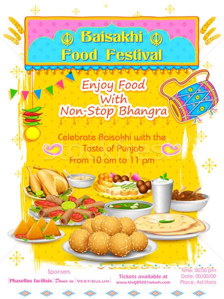 счастливым иллюстрация продовольствие фестиваля азиатских праздник Сток-фото © vectomart