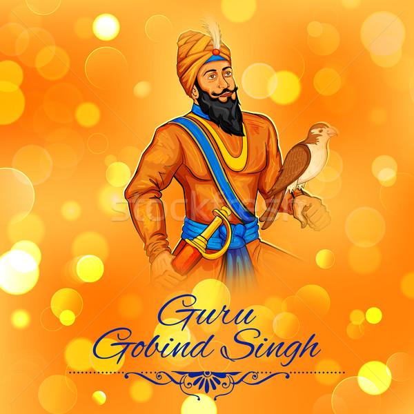 Felice guru festival sikh celebrazione illustrazione Foto d'archivio © vectomart
