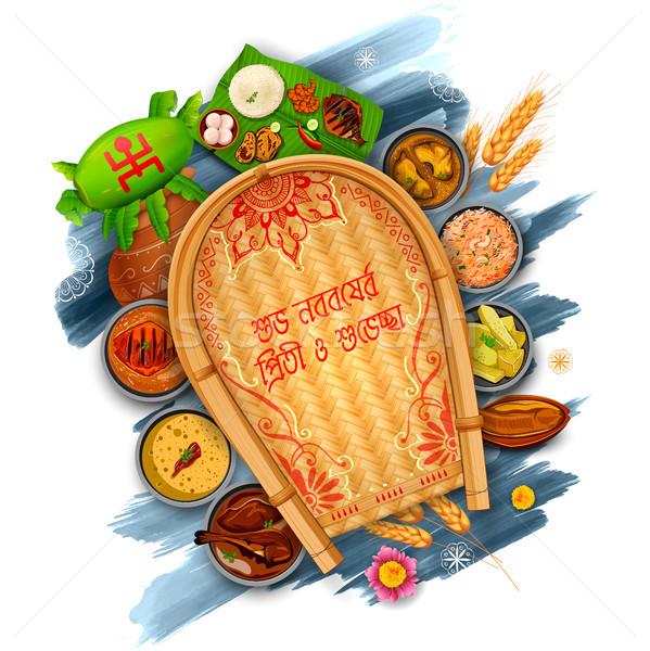 приветствие текста смысл иллюстрация с Новым годом Palm Сток-фото © vectomart