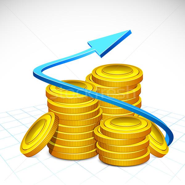 矢印 周りに スタック 金貨 実例 抽象的な ストックフォト © vectomart