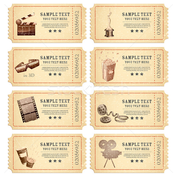 Vintage Movie Ticket Stock photo © vectomart