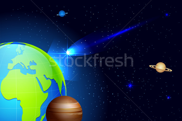 Comet coming toward Earth Stock photo © vectomart
