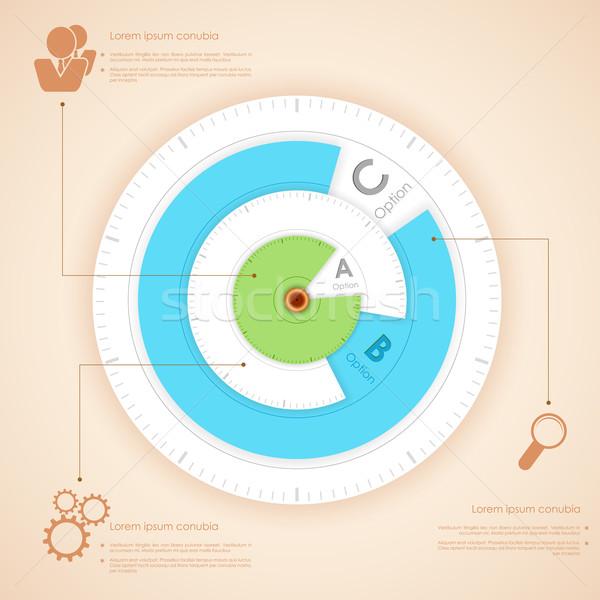 Infografika diagram illusztráció lehetőségek bemutató promóció Stock fotó © vectomart