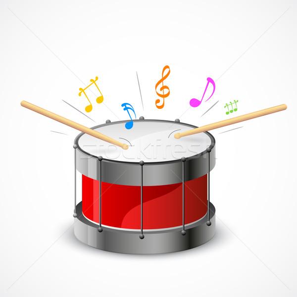 ミュージカル ドラム 実例 音符 外に パーティ ストックフォト © vectomart