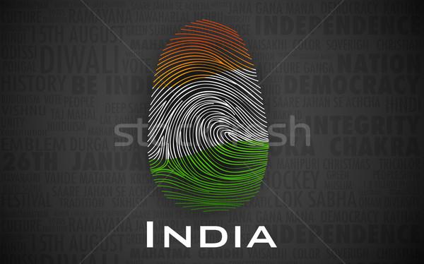 Dumny indian ilustracja kolor projektu Zdjęcia stock © vectomart