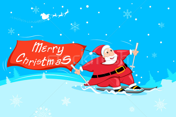 Santa Claus with Merry Christmas Stock photo © vectomart