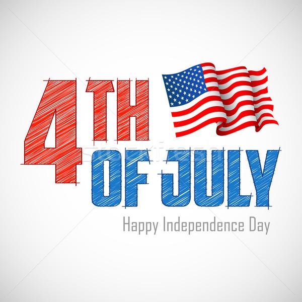Negyedike illusztráció amerikai zászló buli kék minta Stock fotó © vectomart