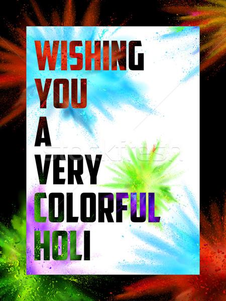 Poeder kleur explosie gelukkig illustratie kleurrijk Stockfoto © vectomart
