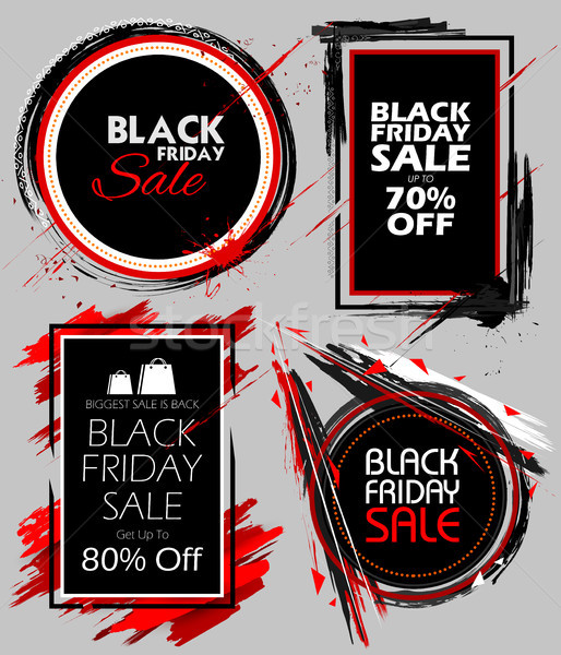 ブラックフライデー 販売 ショッピング 提供 プロモーション 陽気な ストックフォト © vectomart