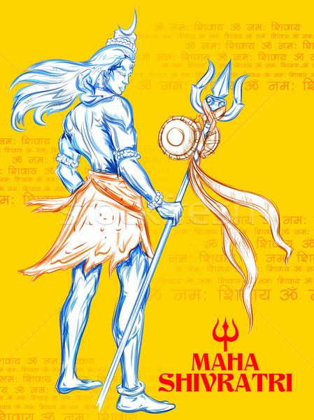 Shiva Hint Tanrı örnek mesaj Stok fotoğraf © vectomart