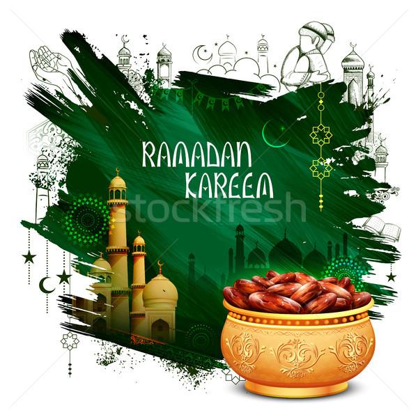Stock fotó: Ramadán · nagyvonalú · üdvözlet · iszlám · vallásos · fesztivál