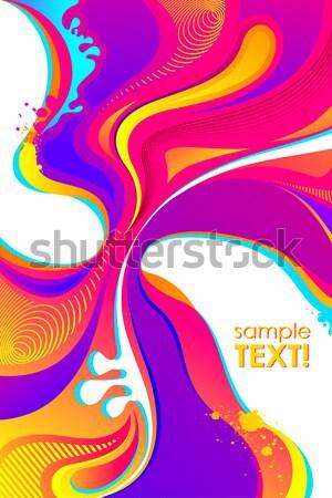 Colorful Holi Background Stock photo © vectomart