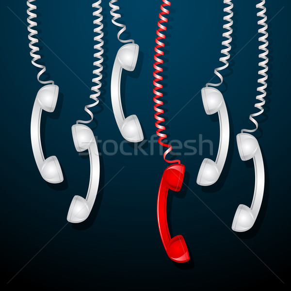 Red Telephone Receiver Stock photo © vectomart
