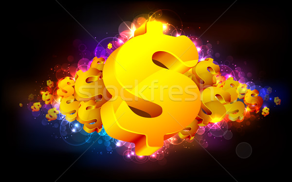 Dollar illustratie goud symbool abstract ontwerp Stockfoto © vectomart