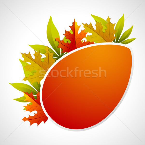 Autumn Template Stock photo © vectomart