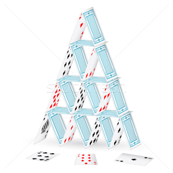 Castle with Playing Card Stock photo © vectomart