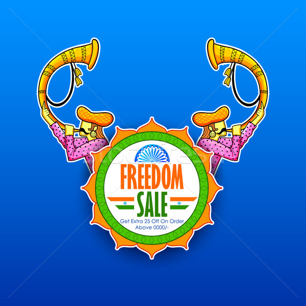 Independence Day of India sale banner with Indian flag tricolor Stock photo © vectomart