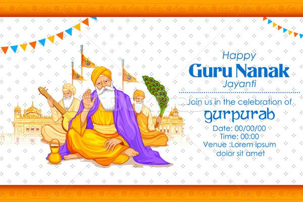 Mutlu guru festival sih kutlama örnek Stok fotoğraf © vectomart